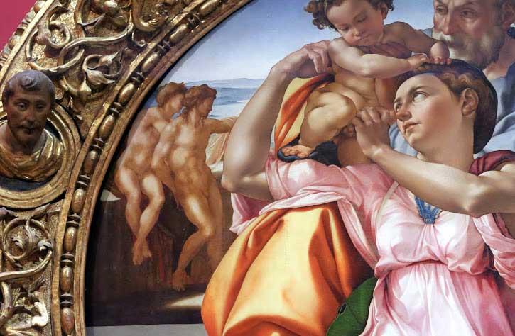 Michelangelo - tondo Doni - dettaglio