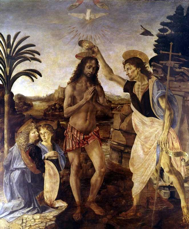 Verrocchio -Botticelli - Battesimo di Cristo