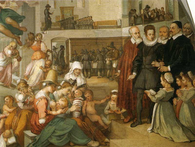 Bernardino Poccetti Strage degli innocenti  - Spedale degli Innocenti - Firenze 1610