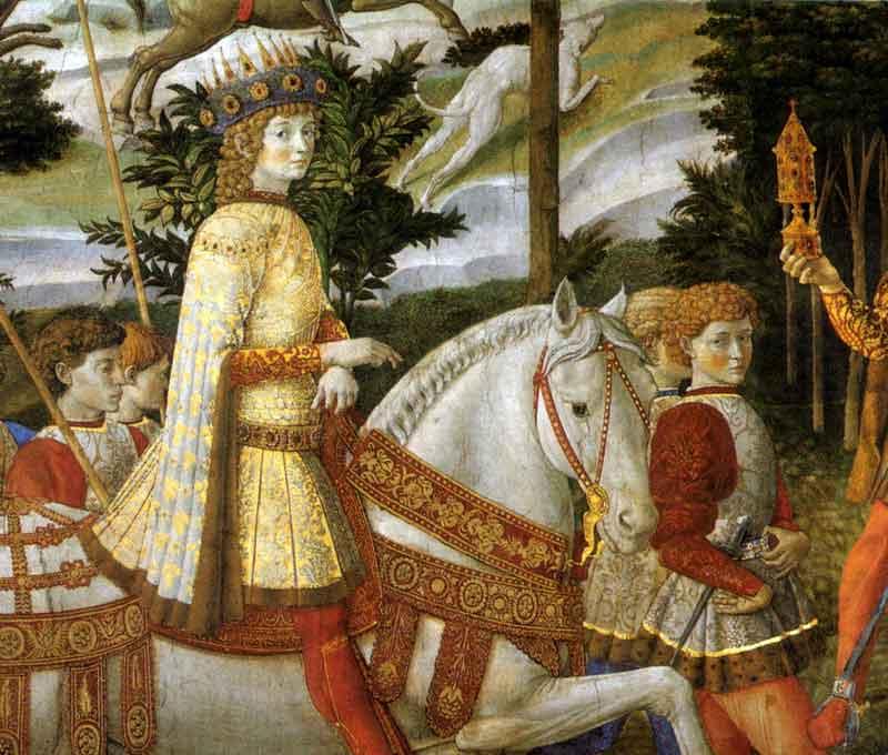 Cappella dei magi -particolare con Lorenzo Il Magnifico